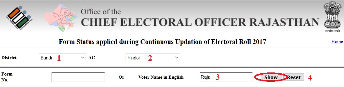 ceorajasthan nic in Search Name in Electoral Roll & Check